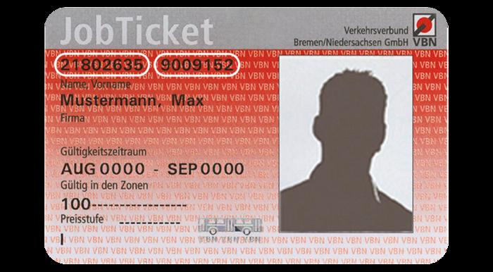 Jobticket Bremen: Vorderseite