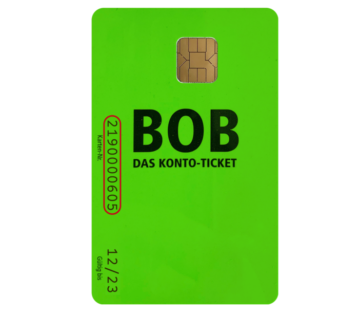 BOB-Karte Vorderseite