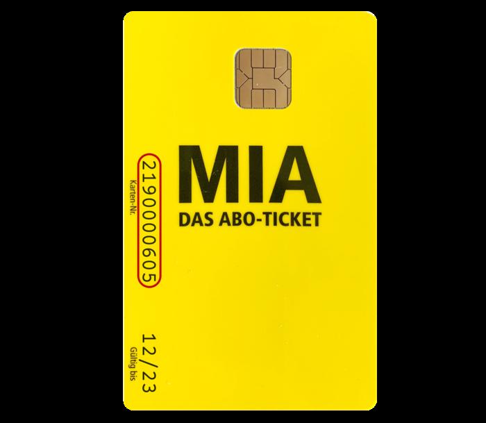 MIA-Karte Vorderseite